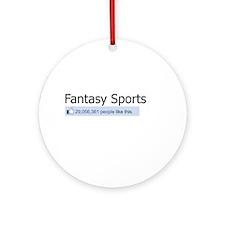 Like Fantasy Sports Ornament (Round)