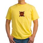 Orange Skull Yellow T-Shirt