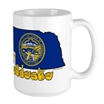 ILY Nebraska Large Mug