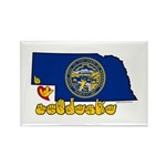 ILY Nebraska Rectangle Magnet (100 pack)