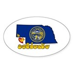 ILY Nebraska Sticker (Oval 10 pk)