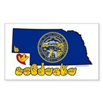 ILY Nebraska Sticker (Rectangle 50 pk)