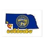 ILY Nebraska Postcards (Package of 8)