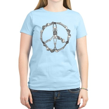 Peace Skeletons Women's Light T-Shirt