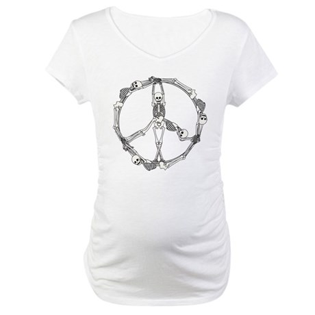 Peace Skeletons Maternity T-Shirt