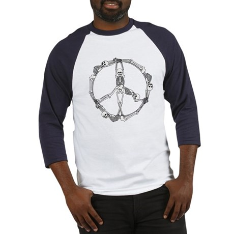Peace Skeletons Baseball Jersey