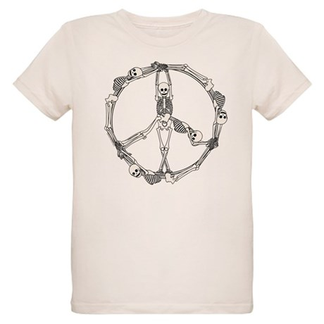 Peace Skeletons Organic Kids T-Shirt