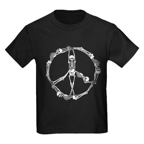 Peace Skeletons Kids Dark T-Shirt