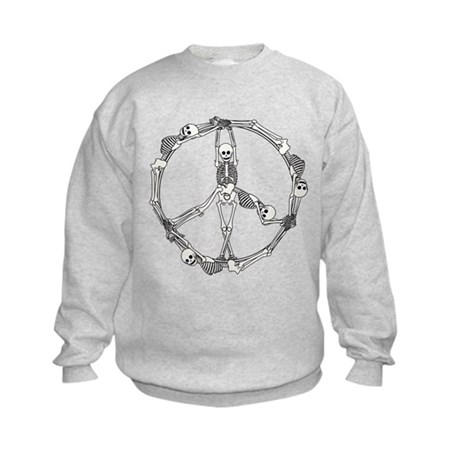 Peace Skeletons Kids Sweatshirt