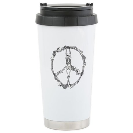 Peace Skeletons Ceramic Travel Mug