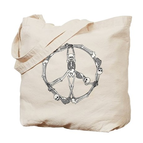 Peace Skeletons Tote Bag