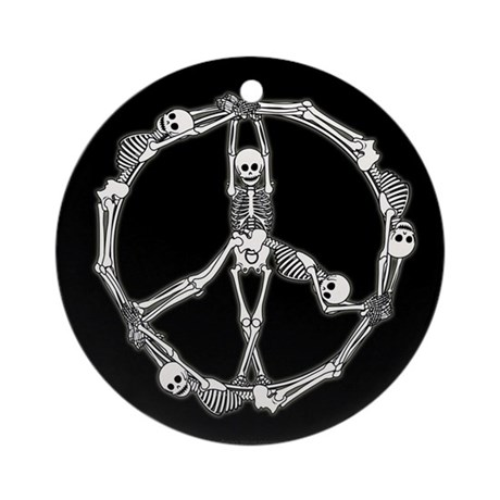 Peace Skeletons Ornament (Round)