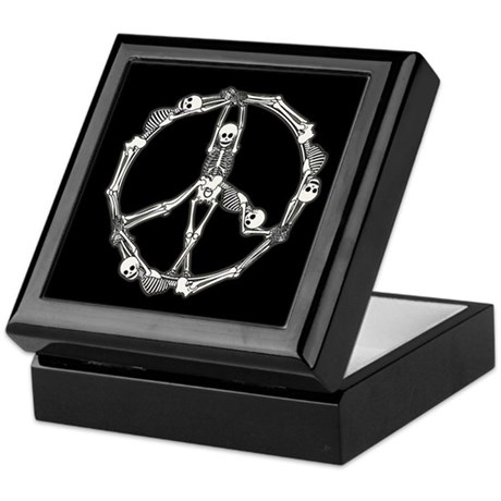 Peace Skeletons Keepsake Box