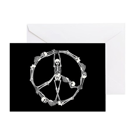 Peace Skeletons Greeting Card