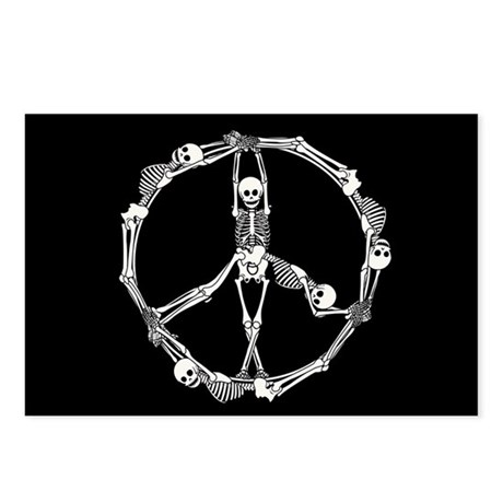 Peace Skeletons Postcards (Package of 8)