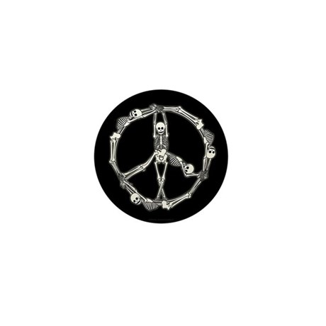 Peace Skeletons Mini Button (100 pack)