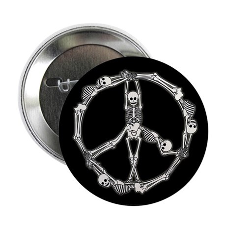 "Peace Skeletons 2.25"" Button (10 pack)"