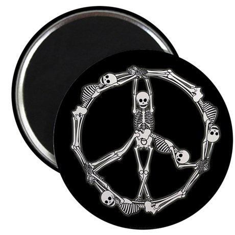 "Peace Skeletons 2.25"" Magnet (100 pack)"