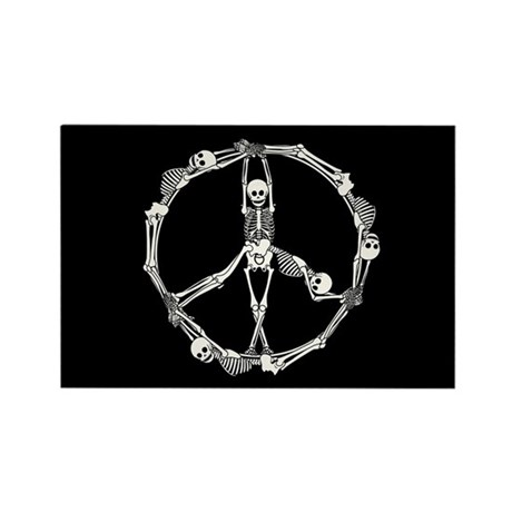 Peace Skeletons Rectangle Magnet (10 pack)