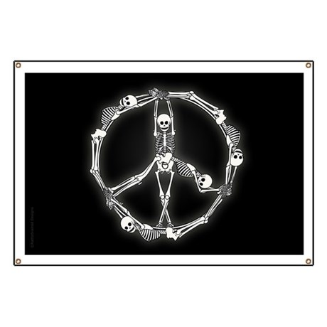 Peace Skeletons Banner