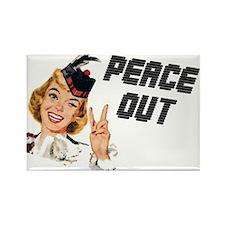 Peace Out Fridge Magnet