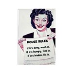 House Rules Rectangle Magnet