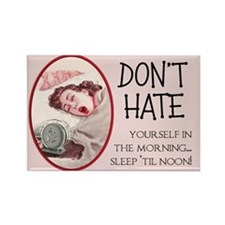 Sleep Until Noon Fridge Magnet