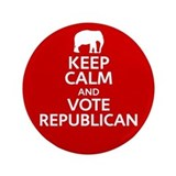"Keep Calm Republican 3.5"" Button"