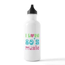 I Love 80's Music Water Bottle