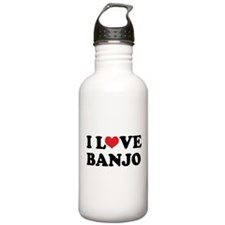 I Love Banjo Water Bottle