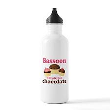 Funny Chocolate Bassoon Water Bottle