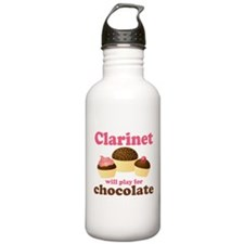 Funny Chocolate Clarinet Sports Water Bottle