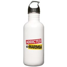 Addicted To Marimba Sports Water Bottle