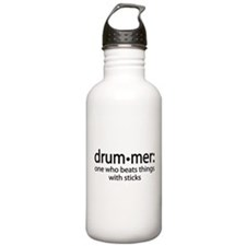 Funny Drummer Definition Water Bottle