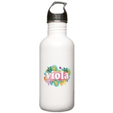 Retro Burst Viola Water Bottle