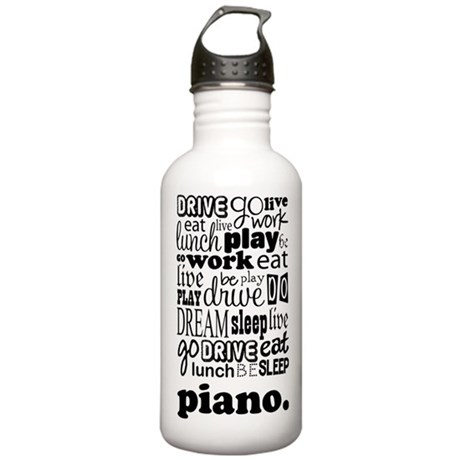 Piano Music Life Stainless Water Bottle 1.0L