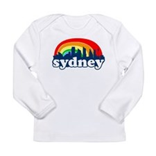 Sydney Rainbow Skyline Long Sleeve Infant T-Shirt