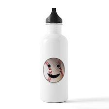 Baseball Happy Face Water Bottle