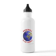 Baseball is my World Water Bottle