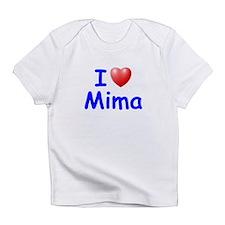 I Love Mima (Blue) Infant T-Shirt