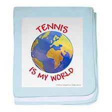 Tennis is my World baby blanket