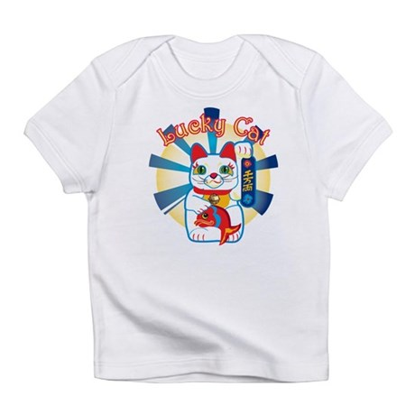 Lucky Cat White Infant T-Shirt