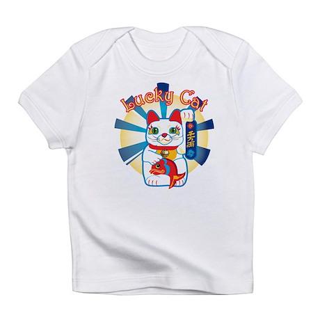 Lucky Cat White Infant T-Shirt