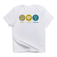 Peace Love Feminism Infant T-Shirt