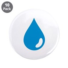 "Water drop 3.5"" Button (10 pack)"