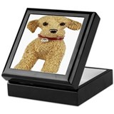 CUTE GOLD NUGGET TERRIER JEWELRY KEEPSAKE BOX