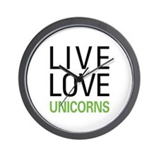 Live Love Unicorns Wall Clock