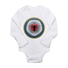 Lutheran Rose Long Sleeve Infant Bodysuit