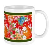 Japanese floral red Coffee Mug