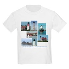 Massachusetts Lighthouses Kids T-Shirt